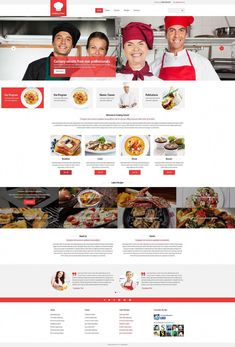 Purchase This Cooking Site Template and Build a Powerful Site for Less. School Website Templates, Template Site, Design Websites, Cooking Videos Tasty, Web Design, Design Ideas, Cooking Courses, Cooking With Olive Oil, Food Website