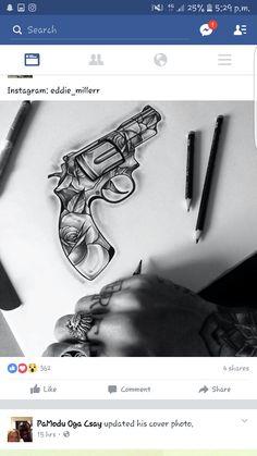 Tattoo gun roses
