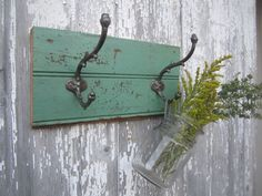 Historic Building Salvage turned into Coat Rack