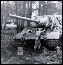 American soldiers removing ammunition from a captured Jagdtiger