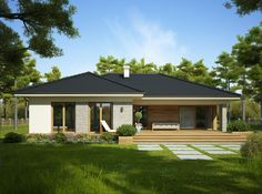 Two Bedroom House Design, Modern House Design, Bungalow House Plans, Modern Bungalow, Bungalow Extensions, Affordable House Plans, Beautiful House Plans, Family House Plans, Dream House Exterior