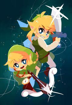 Toon Link & Toon Linkle