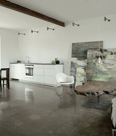 Polished Concrete floors!  source unknown
