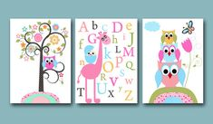 Childrens Art Kids Wall Art Baby Girl Room Decor por artbynataera