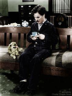 Charlie Chaplin -Modern Times(1936) - Colorized by (me) Larissa Frehley. more : https://www.facebook.com/charliechaplinbrazil