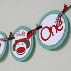 Hey, I found this really awesome Etsy listing at http://www.etsy.com/listing/154358912/sock-monkey-banner-high-chair-banner-i
