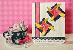 TARJETA CON REHILETES - Crafty Little Bee