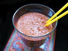 Ingredients  1 cup low fat milk (or  coconut milk)  1 very ripe banana  1 Tbsp. cocoa powder   1 Tbsp. nut butter   1 tsp. honey (optional – use if banana not very ripe)  1.5 cups ice (add less ice for smoother shake)   protein chocolate whey(optional)  Directions  Put all ingredients in blender in order listed. Blend until smooth.