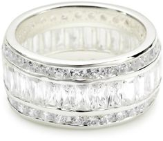 "VINANI brand Germany 925 Sterling Silver Ring for Women shiny Zirconia Ribbons white size 9"" (19.1) RZW60 VINANI, To buy To SEE or BUY just CLICK on AMAZON right here   http://www.amazon.com/dp/B00829XN3W/ref=cm_sw_r_pi_dp_RadFtb0VN01R81KP"