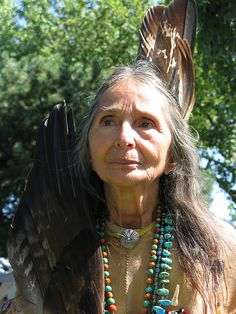 American Indian woman, taken September 2009 by Don Row