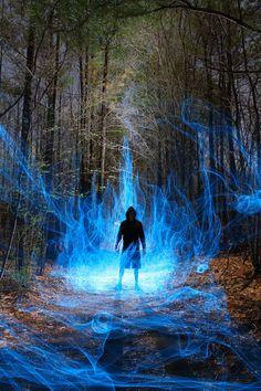 ghost in the machine - Light Art by Dennis Calvert