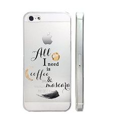 Amazon.com: But Fisrt Coffee Slim Iphone 5 5S Case, Clear Transparent Iphone 5 5S Hard Cover Case For Apple Iphone 5/5S -Emerishop: Cell Phones & Accessories