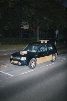 An Amsterdam-based creative has taken it upon himself to give strangers cars an upgrade using #cardboard boxes. 24-year-old creative Max Siedentopf explained: 'We live in a time where individuality, self-expression and status are at an all-time peak. We want to personalise everything to be unique. I tried to think of a way to make the most ordinary cars for just a few euros into their own supercar.' This idea became #Slapdash Supercars.