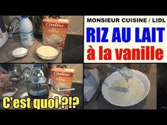 Riz au lait à la vanille - recette monsieur cuisine lidl silvercrest