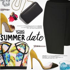 Yoins 29:Summer Date by pokadoll on Polyvore featuring polyvore, mode, style, Clare V., fashion, clothing, polyvoreeditorial, polyvorefashion, polyvoreset and yoins