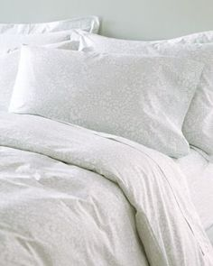 Mums Hemstitched Supima Percale Bedding - nice, subtle, lacy, floral print