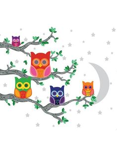 WallCandy Arts - Night News 2 Owl Wall Decals | VAULT