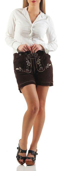 1adaf5366fcf3 eBay #Sponsored Femmes Costumes Pantalon en Cuir Marron Court Shorts sans  Bretelles KUDC1 / Ot