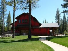 Family Barn at Martis Camp in Truckee, California - Tons of activities inside - movie theater, bowling alley, restaurant, art center, basketball court etc.