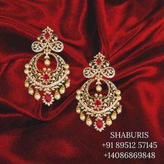 Silver Jewellery Indian, Indian Wedding Jewelry, Silver Jewelry, Gold Jewellery, Cuff Jewelry, Stone Jewelry, Jewlery, Gold Earrings Designs, Hanging Earrings