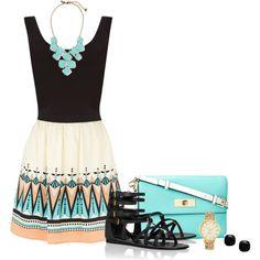 """Aztec Dress"" by corvettegal99 on Polyvore"