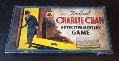 Vintage 1937 Milton Bradley The Great Charlie Chan Detective Mystery Board Game #MiltonBradley