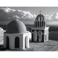 """Two Crosses, Santorini"""