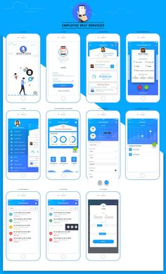 Case study of Employee Self Services Mobile App - UX Planet You are in the right place about App Design illustration Here we offer you the most beautiful pictures about the App Design icon you are loo Web And App Design, Design Ios, Flat Design, Ui Design Mobile, Mobile Application Design, Ui Kit, Web Mobile, Mobile App Ui, Mobile Ui Patterns