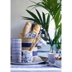 Spring news from 💙 My Essentials, Blue Design, Basket, Spring, Tableware, Interior, Instagram Posts, Kitchen, Outdoor