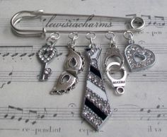 BAG / KILT PIN / BROOCH '50 Shades of Grey' CHARM . New