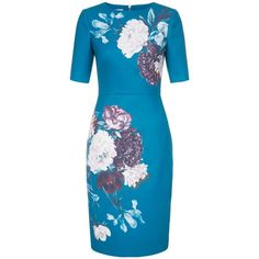 Hobbs Hazel Dress ($95) ❤ liked on Polyvore featuring dresses, sale women dresses, hobbs dresses, tailored dresses, embellished dress, print shift dress and print dress