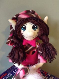 Plush Pink Girl Christmas Elf Doll by AmbersElves on Etsy, $28.00