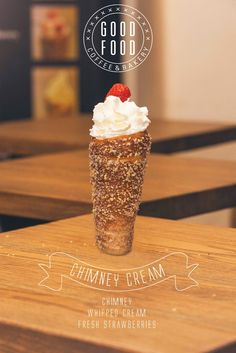 "The ""Chimney cream"" is a Trdelnik or Kurtoskalacs created by our customers in Czech Republic. They are baking with our GAS 8 GRILL and are creating these using our cornet cooking rolls. Check them out the next time you visit Prague."