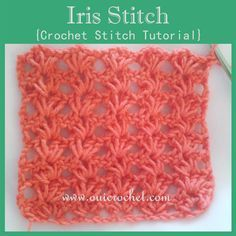 Crochet tutorial by Oui Crochet showing how to crochet the Iris Stitch.