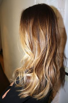 long layers, blonde, balayage, loose waves
