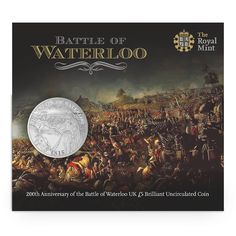 Battle of Waterloo 2015 UK £5 Brilliant Uncirculated Coin from the Royal Mint