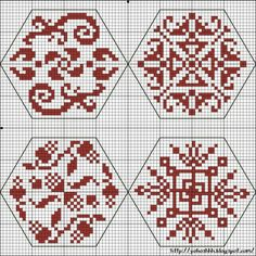 Quaker Cross Stitch Freebies | Крестики без ноликов: Hexagons 1 - 4 The Quaker…