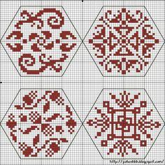 Quaker Cross Stitch Freebies | Крестики без ноликов: Hexagons 1 - 4 The Quaker…