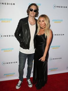 """Christoper French shows support for wife Ashley Tisdale at """"Amateur Night"""" premiere"""