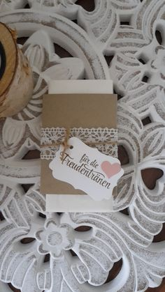 Freudentränen Taschentuch Hochzeit. http://de.dawanda.com/shop/Gellert-123