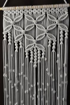 Wall panels handmade macram technique Material 100 polyester Color white Strap natural wood - pine Dimensions The length of the strap to the bottom including the thread - 36 2 inches Width - 13 8 inches Macrame Design, Macrame Art, Macrame Projects, Macrame Knots, Macrame Wall Hanging Patterns, Large Macrame Wall Hanging, Macrame Patterns, Hanging Tapestry, Art Macramé