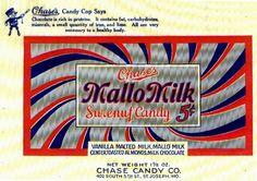 1920s era MalloMilk candy bar wrapper.