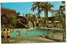 Vintage postcard from the Polynesian Resort at Disney World