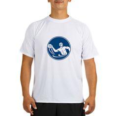Water Polo Player Throw Ball Circle Icon Performan