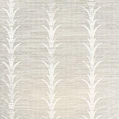 Schumacher Acanthus Stripe Fog & Chalk Wallpaper