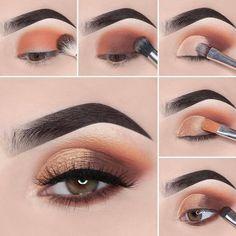 Stunning Eye Make-Up Tutorials! - - - - Stunning Eye Make-Up Tutorials! – – maquillage beauté Atemberaubende Augen Make-up Tutorials! Summer Eye Makeup, Gold Eye Makeup, Cut Crease Makeup, Makeup Eye Looks, Eye Makeup Steps, Eye Makeup Art, Smokey Eye Makeup, Eyeshadow Makeup, Makeup Tips
