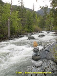 Rushing river. Alan L. Bauer print.