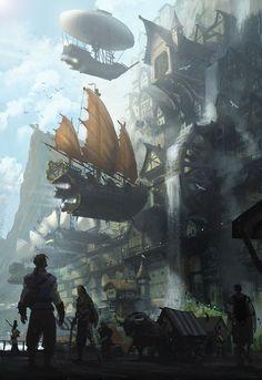""" The city of Alkon by Jan Ditlev Christensen """