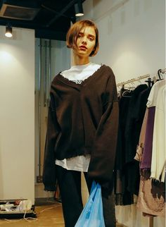 Used Box Knit / Black | PERVERZE