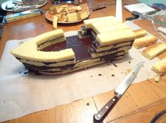 Cake İdeas 66991113188406003 - Plus Source by licornia Bolo Do Mario, Pirate Ship Cakes, Pirate Boat Cake, Pirate Boats, Pirate Birthday Cake, Birthday Cakes, Fantasy Cake, Cake Shapes, Cake Decorating Techniques